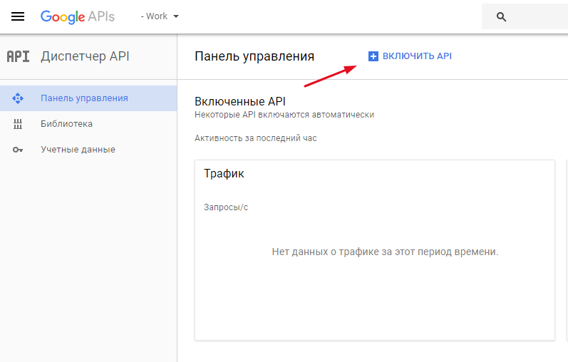 активация Google Analytics в API