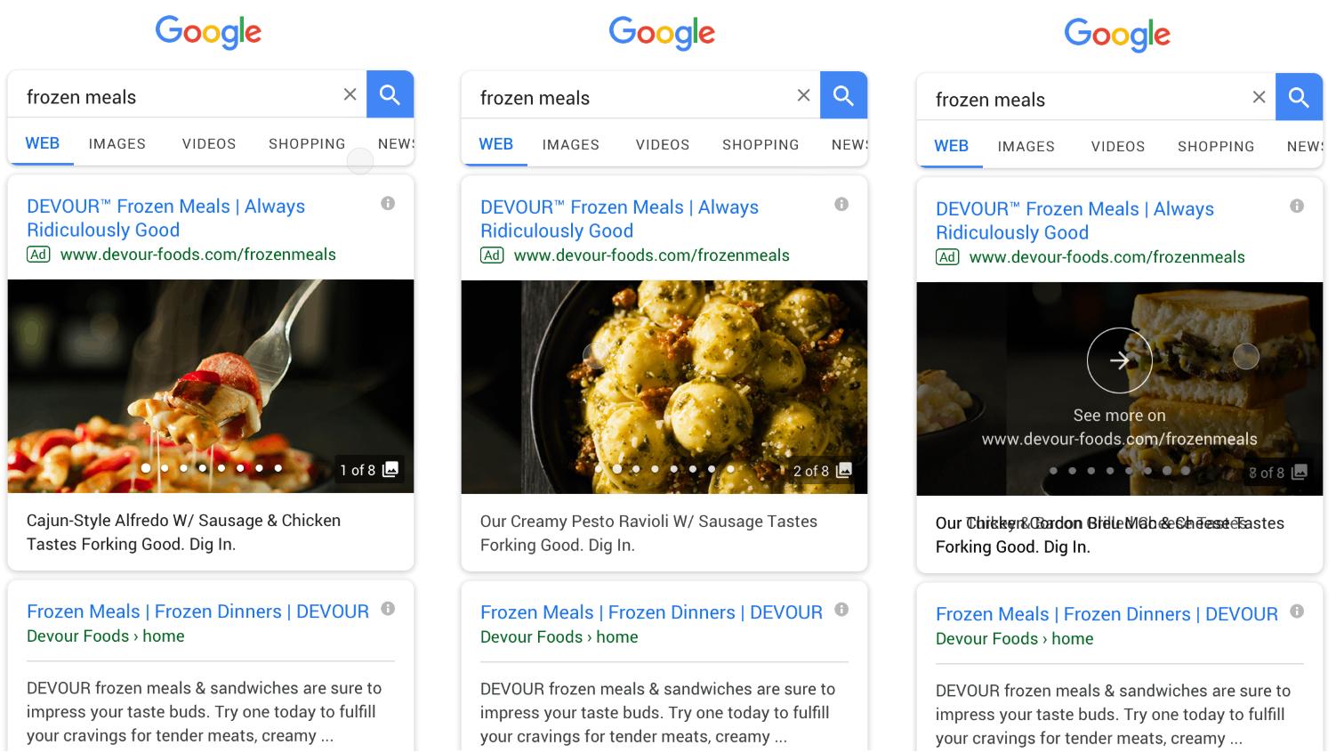 Галерея в поиске googl