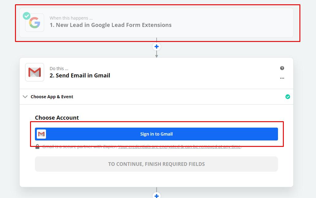 Переход в Gmail