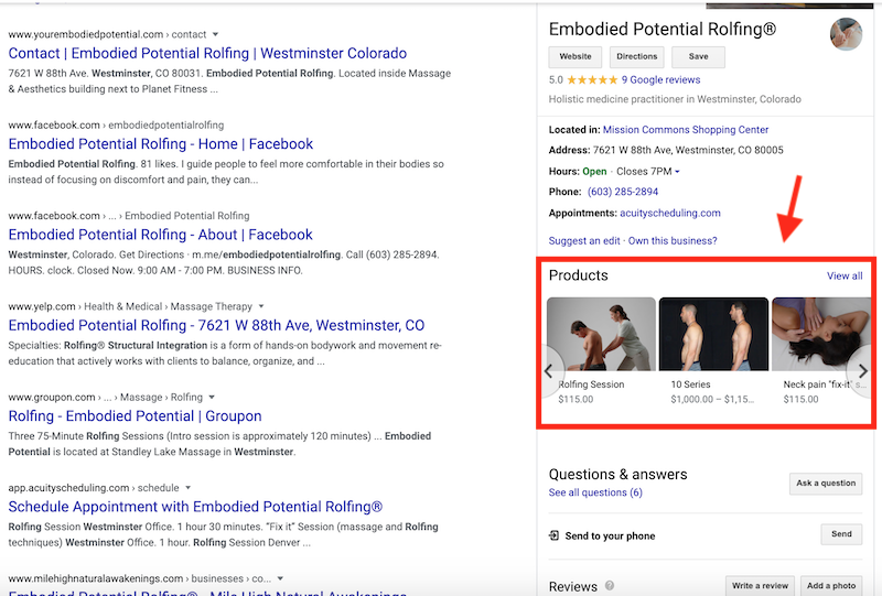 Атак— вGoogle Мой Бизнес