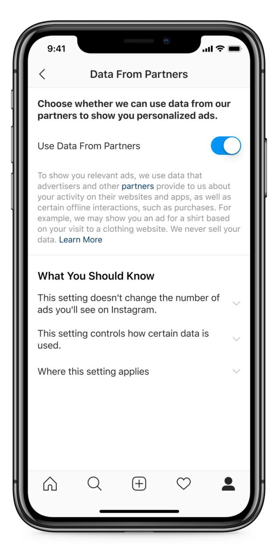Пользователи Инстаграм смогут отказаться от показа таргетированной рекламы